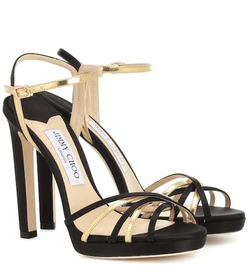Jimmy Choo Lilah 120 leather and satin sandals