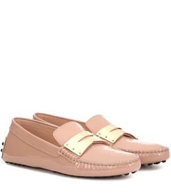 Tod's Gommino patent leather moccasins