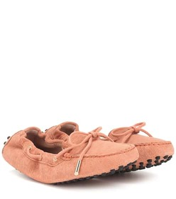 Tod's Exclusive to Mytheresa – Gommino suede mocca