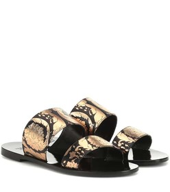 Versace Printed leather sandals