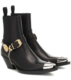 Versace Leather cowboy boots