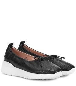 Tod's Logo leather flats