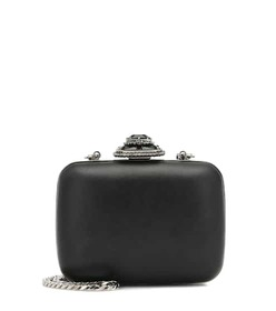 Alexander McQueen Mini embellished leather clutch