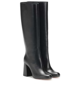 REDValentino RED (V) leather knee-high boots