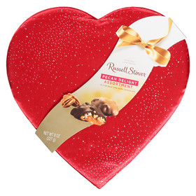 Russell Stover Pecan Delights Fabric Heart Assorte
