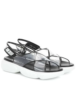 Prada PVC and leather sandals
