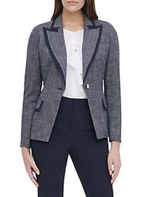Tommy Hilfiger Piped Button-Front Jacket MIDNIGHT