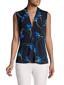 Calvin Klein Floral Sleeveless Top NAVY MULTI