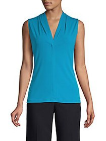 Calvin Klein Sleeveless V-Neck Top CERULEAN