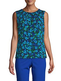 Calvin Klein Floral Sleeveless Top CERULEAN MULTI