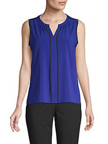 Calvin Klein Pipe-Trimmed Sleeveless Top REGATTA N