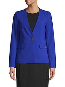 Calvin Klein Petite Luxe Button Jacket REGATTA