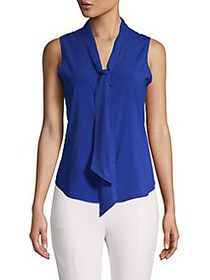 Calvin Klein Petite Tie Neck Sleeveless Top REGATT