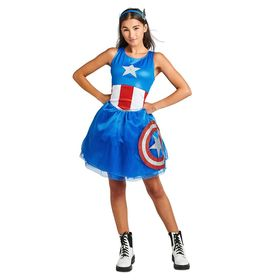 Disney Captain America Tutu Dress Costume for Adul