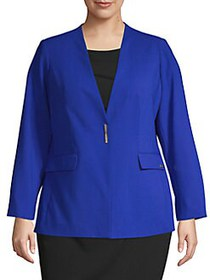 Calvin Klein Plus Lux Button Blazer REGATTA