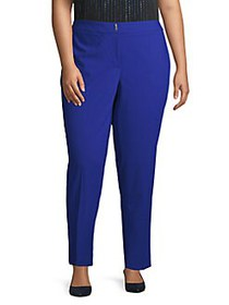 Calvin Klein Plus High-Rise Flat-Front Pants REGAT