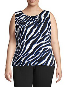 Calvin Klein Plus Zebra-Print Top REGATTA MULTI