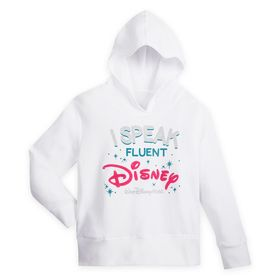 Disney ''I Speak Fluent Disney'' Cropped Pullover