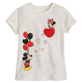 Disney Mickey and Minnie Mouse Heart Balloon T-Shi