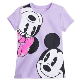 Disney Mickey and Minnie Faces T-Shirt for Girls