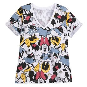 Disney Minnie Mouse V-Neck T-Shirt for Women