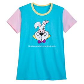 Disney White Rabbit ''Overthink This'' T-Shirt for