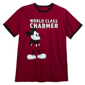 Disney Mickey Mouse ''Charmer'' Ringer T-Shirt for