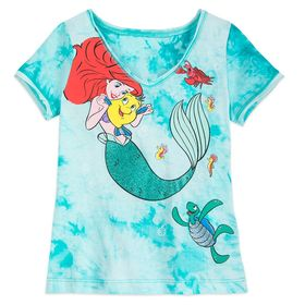 Disney Ariel Tie-Dye T-Shirt for Girls