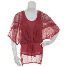 Absolutely Famous Multi Lace Kimono Cardigan