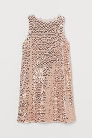 A-line Sequined Dress
