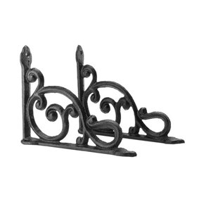 Zimtown 2 pcs CJ004 Cast Iron Antique Style Bracke