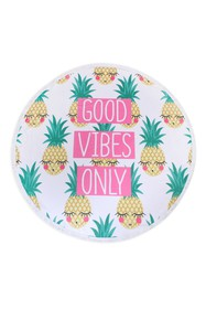 Riah Fashion Good Vibes Only Pineapple Round Towel
