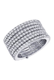 LaFonn Platinum Plated Sterling Silver Multiple Ro