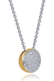 LaFonn Two-Tone Plated Sterling Silver Pave Simula
