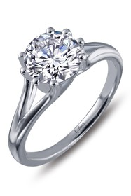 LaFonn Platinum Bonded Sterling Silver Eight Prong