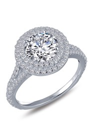 LaFonn Platinum Plated Sterling Silver Round Cut S