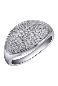 LaFonn Platinum Plated Sterlng Silver Micro Pave S