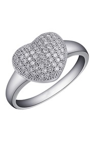 LaFonn Platinum Over Sterling Silver Micro Pave Si