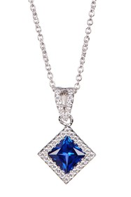 LaFonn Platinum Plated Sterling Silver Simulated D