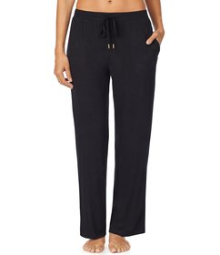 Donna Karan Solid Brushed Jersey Knit Sleep Pants