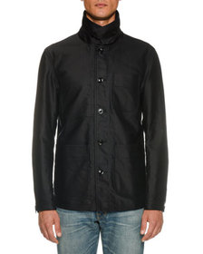 TOM FORD Men's Workwear Stand-Collar Jacket