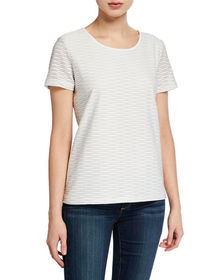 CALVIN KLEIN Wavy Stripe Short-Sleeve Top