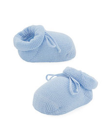 Story Loris Basic Cotton Bootie w/ Bow, Baby