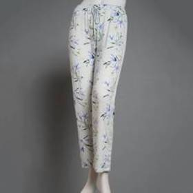 Womens Vince Camuto Spring Lilies Print Lace Trim