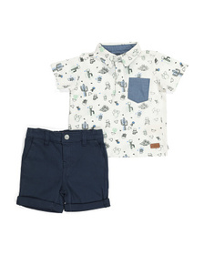 7 FOR ALL MANKIND Baby Boys Cactus Shorts Set
