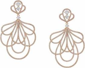 Nina Layered Petal Micro Pave CZ Earrings
