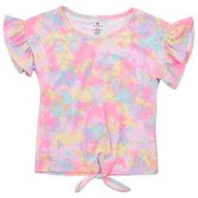 Girls (4-6x) One Step Up Short Sleeve Tie Front Ti