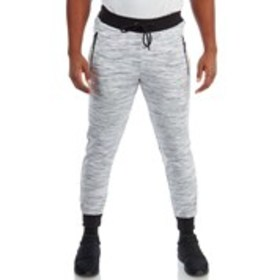 Mens Accent Ribbing Space-Dye Fleece Joggers
