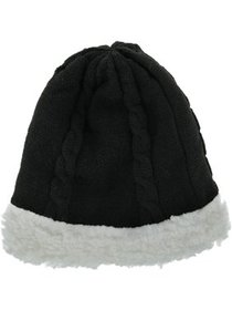 Grand Sierra Cable Knit Sherpa Lined Beanie Hat (W