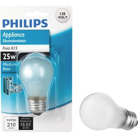 Philips 25W Frost Medium A15 Incandescent Applianc